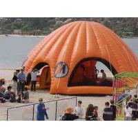 Orange Inflatable Party Tent For Leisure , House Shade Inflatable Wedding Tent Manufactures