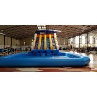 Quality Durable PVC Inflatable Water Slide With Swimming Pool For Water Sport Games for sale