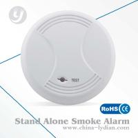 Quality 9V Stand Alone Battery Operated Photoelectric Smoke Detector Flash Alarm for sale