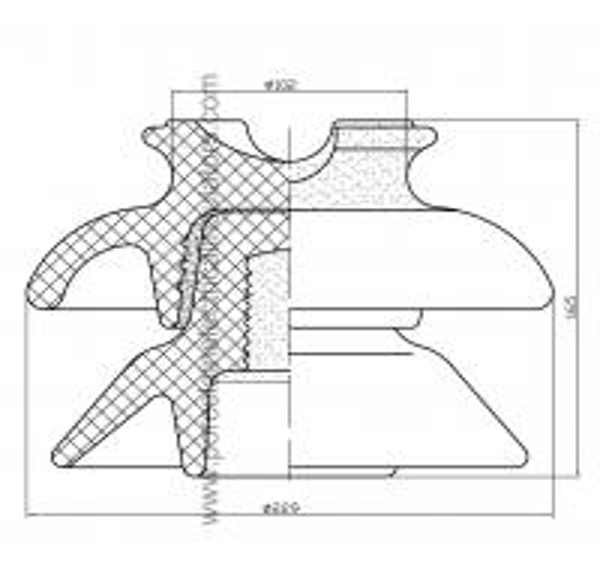 ANSI 56-2 pin type insulator HIVOLT