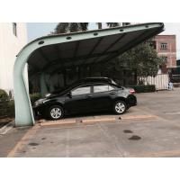 Quality Small Car Parking Shed Garage Steel Frame With Red Arc Shape Roof Top for sale