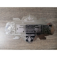 China 304 Stainless Steel Engraved Sign Metal Plate For Brand Warning Sign For Industry on sale