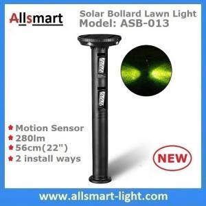 56cm/22 inch Solar Motion Sensor Bollard Lawn Lights Solar Motion Sensor Yard Lights 280lm for Garden Decor & illuminate Manufactures