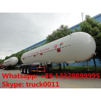 factory price CLW brand 54,000L bulk lpg gas semitrailer for sale,  best price ASME 54m3 road transported propane tank Manufactures