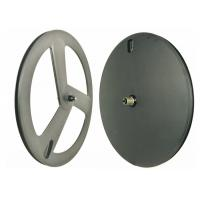 Carbon Clincher Disc Wheel , 120 Psi Carbon Disc Road Wheels 3 Spoke Manufactures