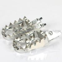 Quality Aluminum Alloy 57mm Dirt Bike Foot Pegs , Supermoto Light Weight Oversized MX Foot Pegs for sale