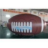 Quality Outdoor Activity PVC Inflatable Sports Balloons Rugby Shape 12 - 18 KPA Air for sale