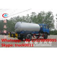 ASME standard dongfeng LHD 4*2 15,000L bulk lpg gas delivery truck for sale, factory sale best price lpg gas tank truck Manufactures