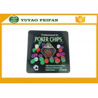 100 Pcs Tin Box Texas Holdem Luxury Poker Chips Set Personalized Poker Chips Manufactures