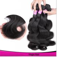 Double Machine Weft Remy Human Hair Bundle Natural Black Body Wave Hair Weave for Women
