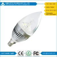 Home Lighting E14 3W 270LM Led Candle Light Bulbs, Candle Light Bulbs for hotel Manufactures
