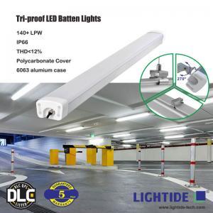 IP66 Tri-proof LED Batten Lights, 100-277vac, 60W, 150 LPW, 120CM, DLC/CE qualified, 5-yrs warranty Manufactures