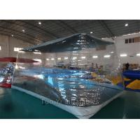 Fireproof PVC Tarpaulin Bubble Tent Night Inflatable For Car Cover / Car Capsule Manufactures