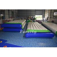 Quality 0.9mm PVC Tarpaulin Inflatable Water Floating Platform For Water Park Equipment for sale