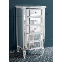 5 Drawers High Mirrored Night Stands Silver / Different Color Optional Manufactures
