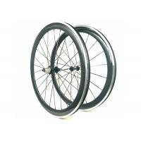 700C 3K Glossy Carbon Alloy Wheels Clincher 50MM Powerway R13 Hub 20 / 24H Manufactures