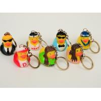 Quality OEM Singer / Swan Character Mini Duck Keychains Toy BPA Free Vinyl Material for sale
