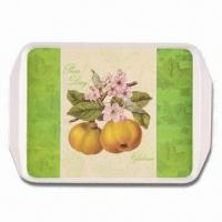 Melamine Serving Tray, Made of A1/100% Melamine, Customized Designs, Suitable for Promotional Gifts Manufactures