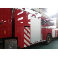 Single Cab Tiller Ladder Fire Truck , V Type Engine Mid Mount Aerial Fire Truck Manufactures
