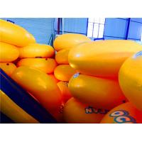 Yellow Inflatable Water Toys , PVC Customized Swimming Ring Manufactures