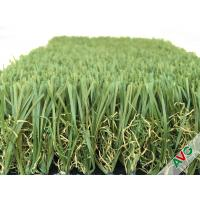 Durable Four Tone 12400Dtex / 8f Hybrid Wave Outdoor Artificial Grass With W Circle And S Wing Blade Manufactures