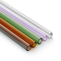 Buy cheap High Borosilicate Glass drinking straw / pipe/ tubing for tea / water / bubble from wholesalers