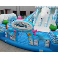 Outdoor Snow world design giant inflatable bouncer jumping castle Manufactures
