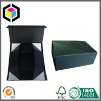 Matte Black Color Print Collapsible Rigid Paper Gift Box Manufactures