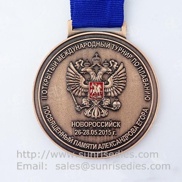 2D Engraved metal medallion maker