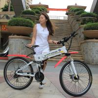 Buy cheap Powerful Fold Up Electric Scooter Mountain Smart City Bike With 26 Inch Tire from wholesalers