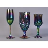 6Oz Ion Electroplated Glass Champagne Stemware Wine Glasses For Candle Making Manufactures