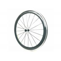 Quality 700C 3K Glossy Carbon Alloy Wheels Clincher 50MM Powerway R13 Hub 20 / 24H for sale
