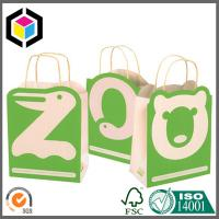 Color Printing Brown Kraft Promotion Bag; Paper Handle Cute Bear Paper Gift Bag Manufactures