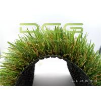 Custom Outdoor Artificial Grass / Synthetic Grass Carpet Fire And UV Resistance Manufactures