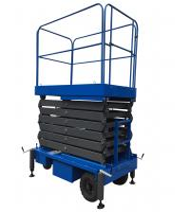 Quality 24V Mobile Scissor Lift Manganese Steel Motorized Hydraulic Lift for sale