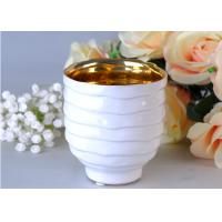 Votive Personalized Candle Holder Ceramic , White Porcelain Candle Holder Manufactures