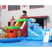 3 years warranty Outdoor inflatable pirate ship water slide with swimming pool, Mini inflatable water park for toddlers Manufactures
