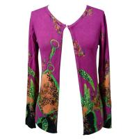 Pink Printed Cartin Womens Viscose Knit Sweaters , Eco-Friendly Manufactures