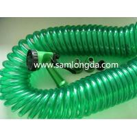 Lead Free PU Coiled Garden Hose 25FT with Brass coupler, hot sale on Amazon, and Ebay Manufactures
