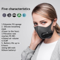 Quality Smart Electric Face Mask Air Purifying Anti Dust Pollution Fresh Air Supply pm2.5 With Breathing Valve Personal Health C for sale