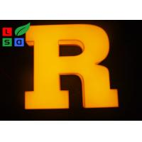 Quality 3D Logo LED Light Up Letters , Solid Arylic Illuminated Channel Letters For Shop for sale