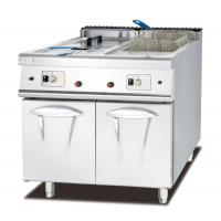 Commercial Gas Deep Fryer With Cabinet Western Kitchen Equipment Chips Fryer Manufactures