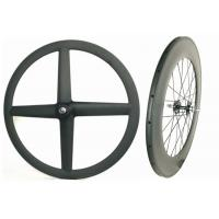 T700 Front 4 Spoke Carbon Track Bike Wheels Rear 88MM 700C Anti High Temperature Manufactures