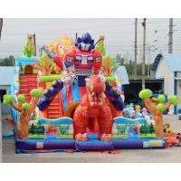Cheap Kids Big Dinosaur Playground Giant Inflatable Bouncer Castle House With Slide For Children Sale