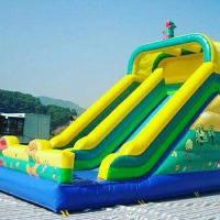 High Temperature Welding Inflatable Water Toys Inflatable Pool Toys With Slide Manufactures