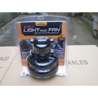 Two Speed Small LED Camping Fan With High Brightness 18 LED Light Manufactures
