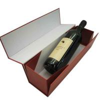 12 * 4 * 4.5 Inch Foldable Single Bottle Wine Cardboard Boxes With Matte Lamination Manufactures