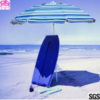 Windproof Folding Sun Beach Umbrella With Vented Tilt Telescoping Pole Adjustable Manufactures