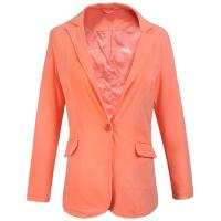 Ladies Jersey Jacket Garment Dyeing Service Long Sleeve Suit in Orange Manufactures