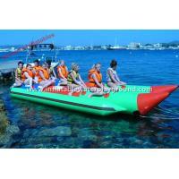 Quality 0.9mm PVC Fabric Inflatable Towables , 12 Person Double Lane Banana Boat Tube for sale